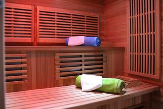 le sauna infra rouge de l'espace bien être du Domaine Delabaude